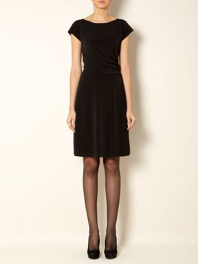 The Department Cap sleeve ruch side dress Black - House of Fraser