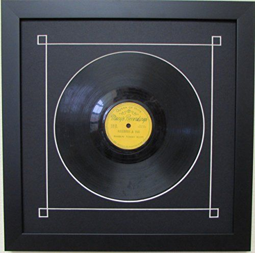 10 Quot Vinyl Record Frame With Black Mat Design White Trim And Solid Vinyl Record Frame Framed Records Custom Frame Shop