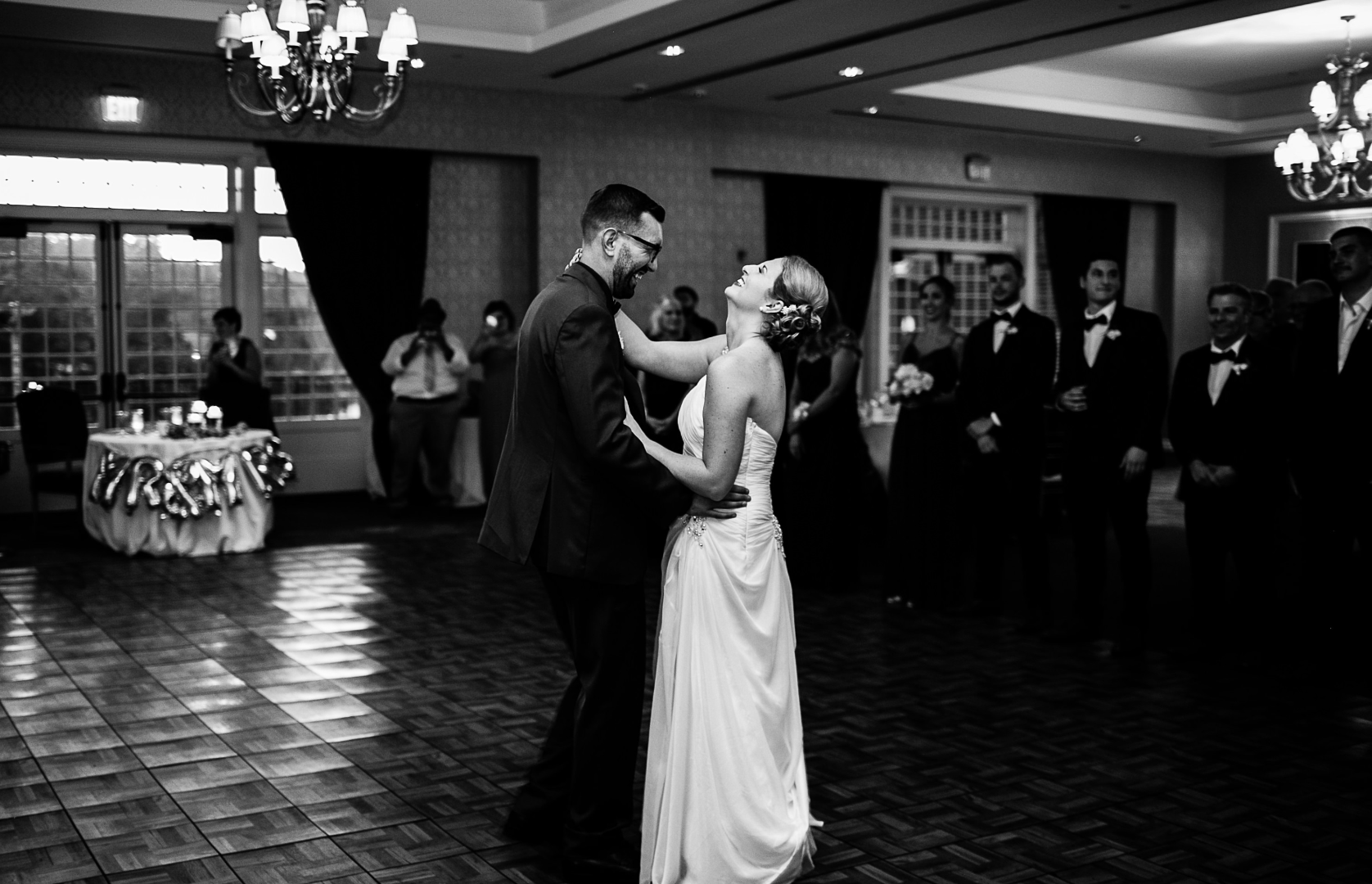 Bride And Groom Share Their First Wedding Dance And Cannot Contain Their Smiles And Emotional Wedding Photography New York Wedding Vintage Wedding Photography