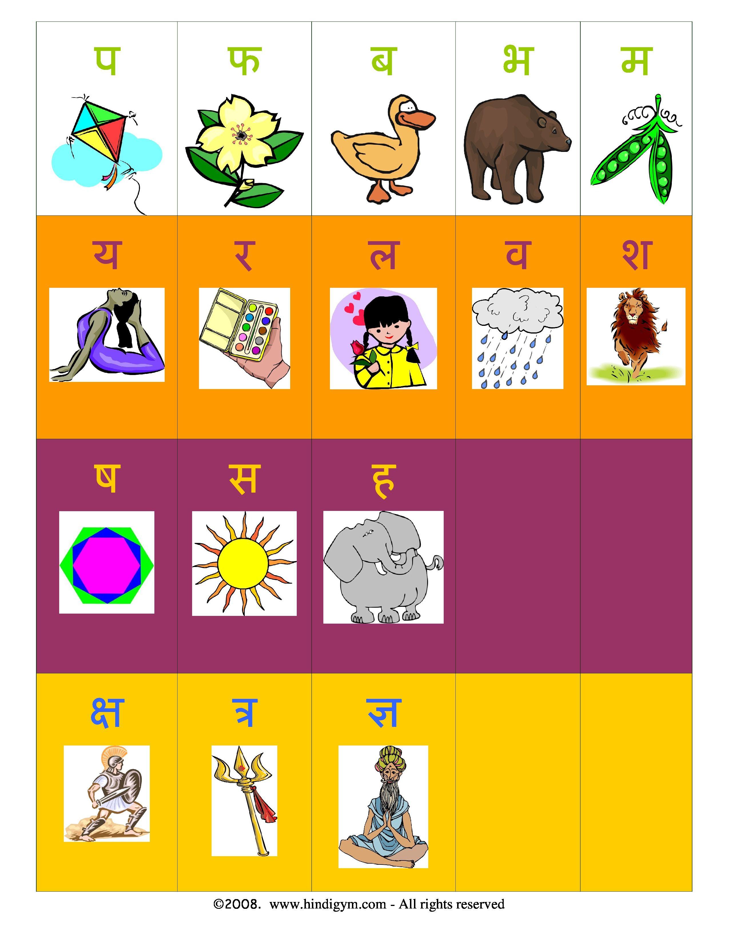 Hindi Alphabet Varnamala Chart Print For Free With