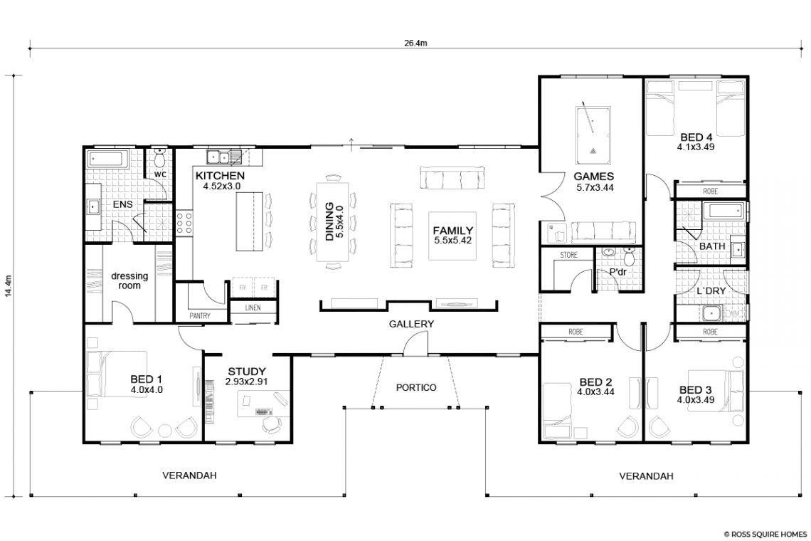 Eumundi || Queenslander Style Design, Floorplan | WA ...