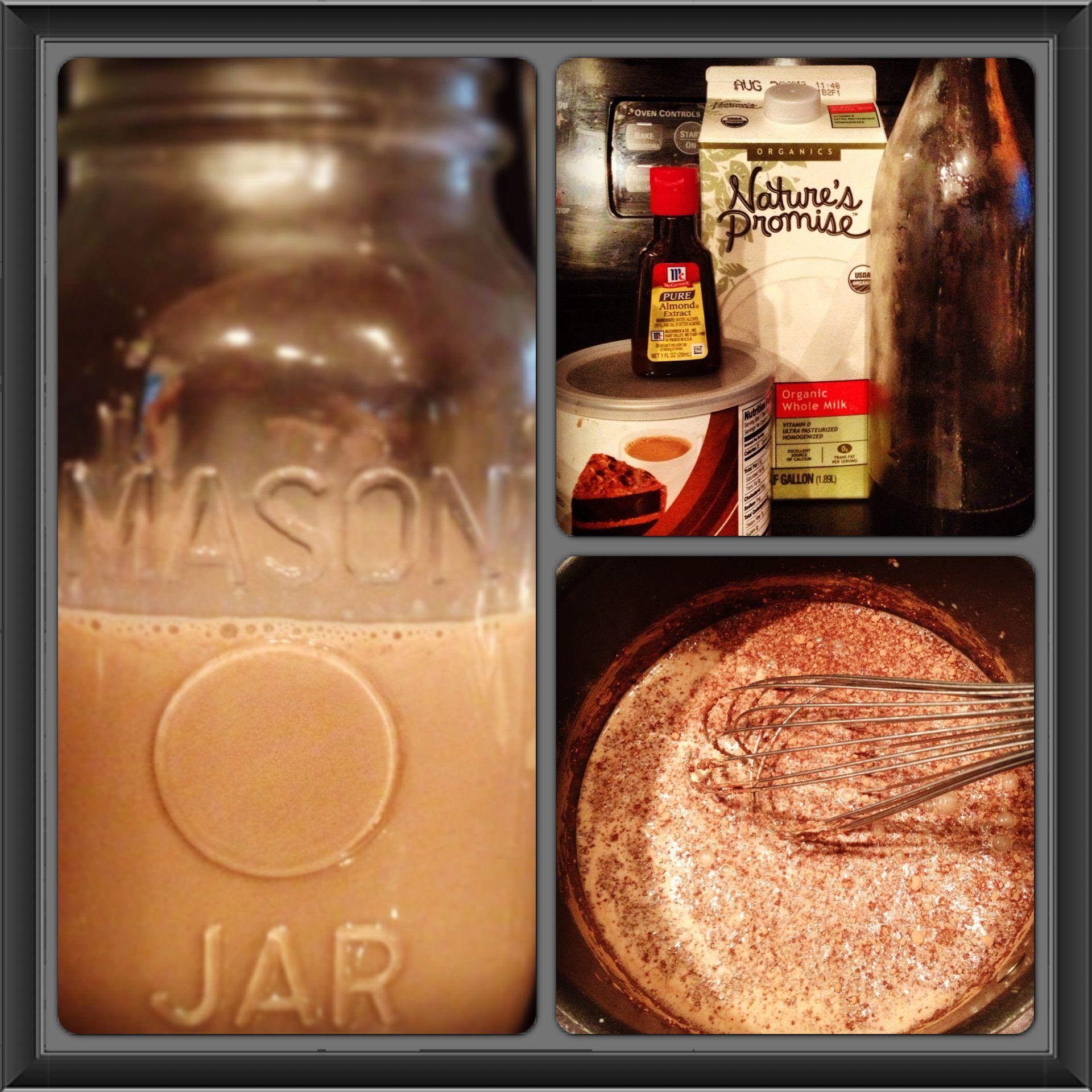 Chocolate almond coffee creamer coffee creamer