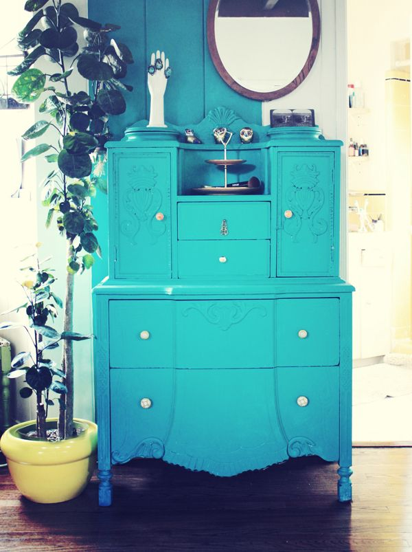 Turquoise Painted Dresser ♥