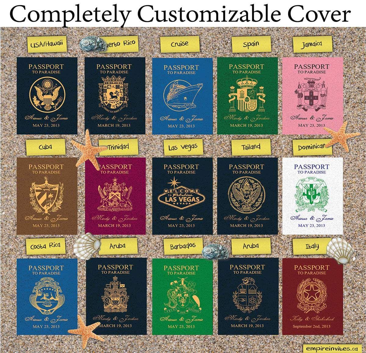 5⭐ Custom Online Destination passport wedding invitations, from ...