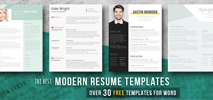 Modern Resume Templates 49 Free Examples Freesumes