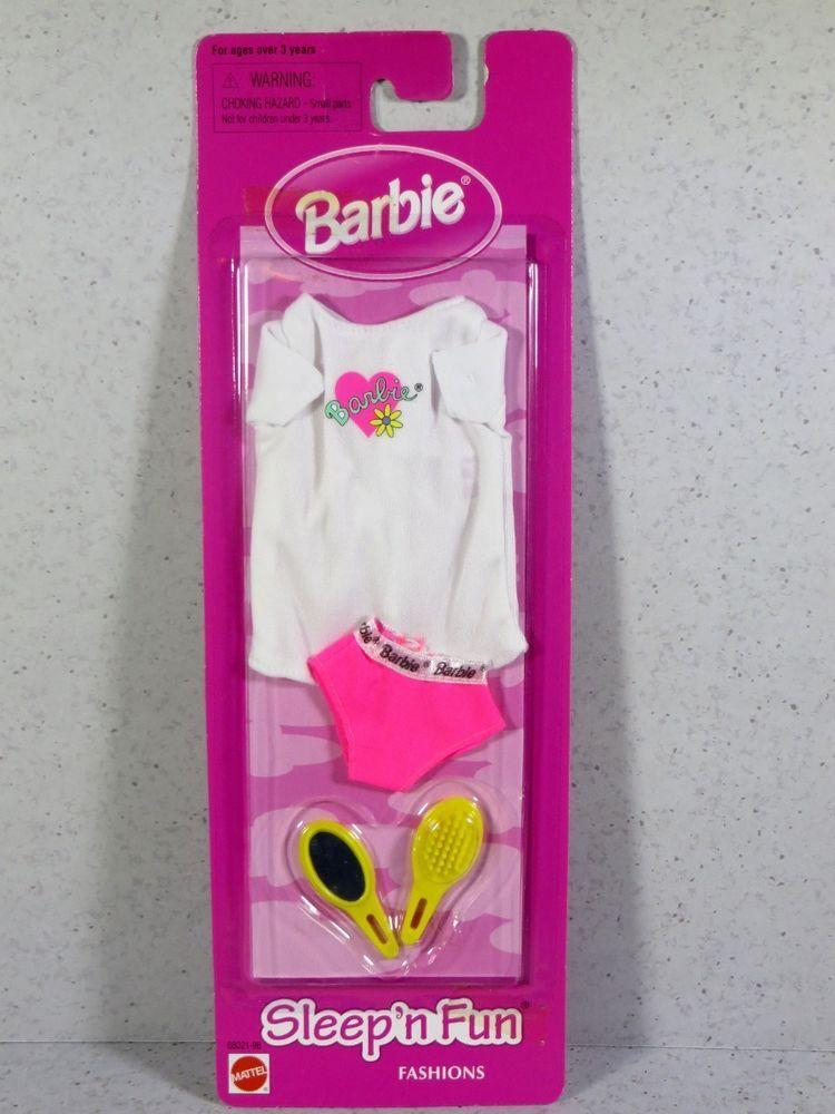 Nib barbie doll fashion 1998 sleep 'n fun pajamas | Barbie's