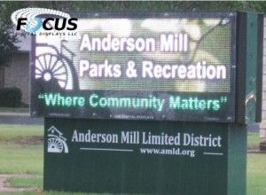Focus Digital Displays Helps a Small Community Communicate with an LED Message Sign
