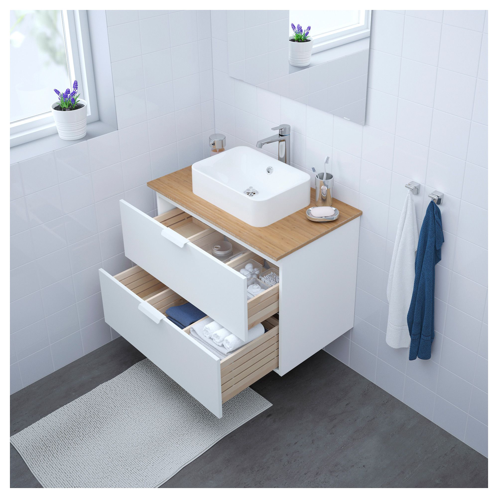 Ikea Godmorgon Sink Cabinet With 2 Drawers White