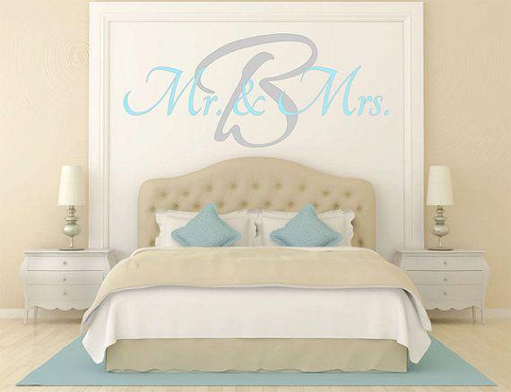Mr Mrs Wall Decal Master Bedroom Vinyl Decal Vinyl Lettering