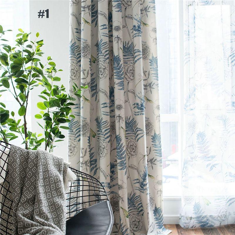 Landhaus Vorhang Blätter Muster im Wohnzimmer in 2018 Home sweet