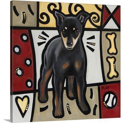 Canvas On Demand 'Miniature Pinscher Pop Art' by Eric Waugh Graphic Art on Canvas Size: