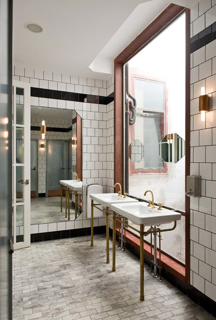 Veggie Trailblazeru0027s Latest Restaurant Flax U0026 Kale Looks The Part With Its  Glossy Manhattan Aestheticu2026 Bathroom InspirationBathroom IdeasSmall ...