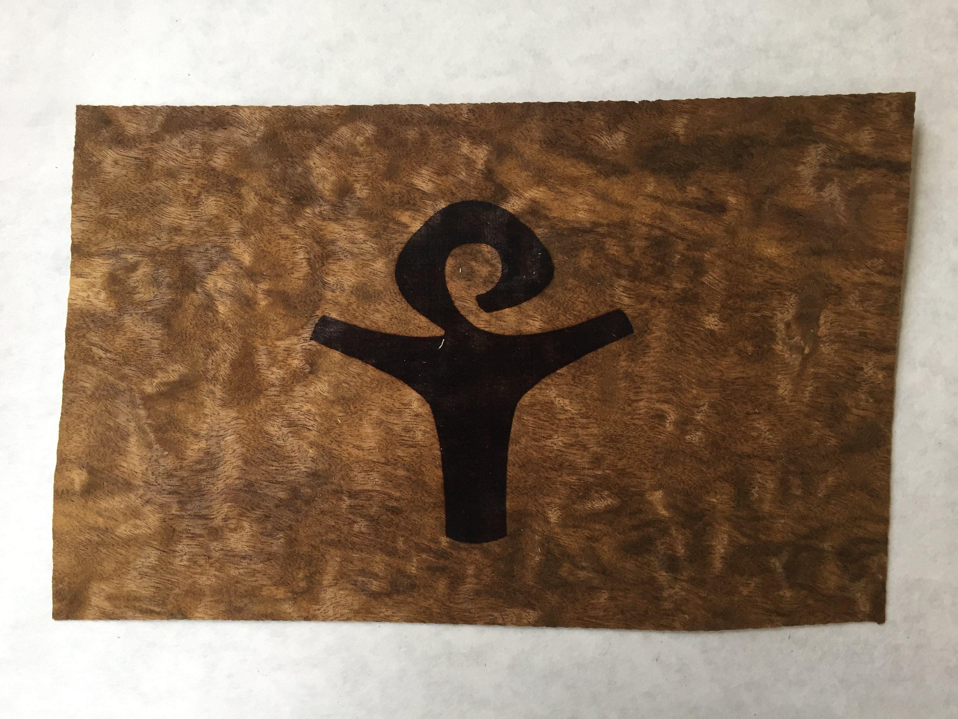 Happy soul laserengraved wall art on wood veneer products