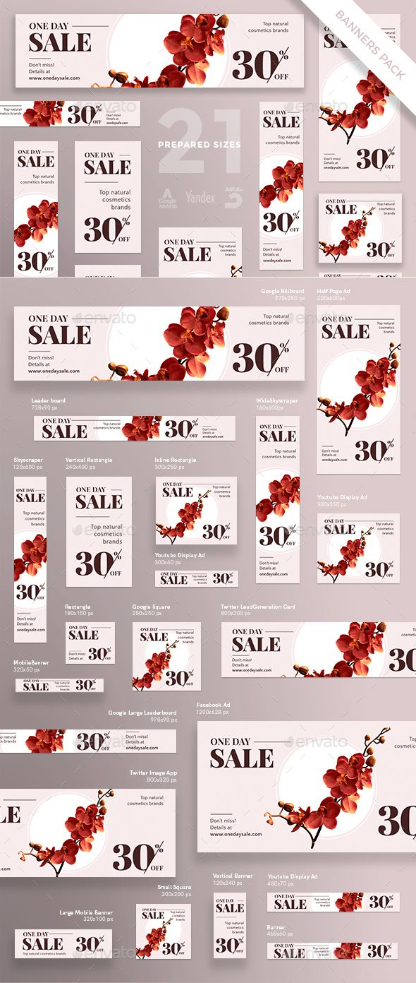 natural cosmetics sales banner template psd vector eps banner