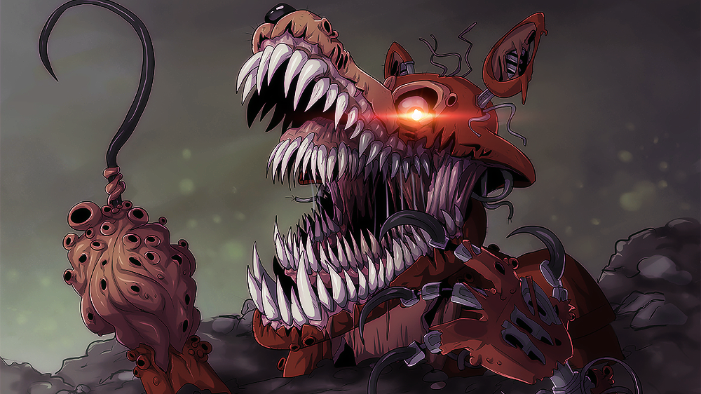 Twisted Foxy Color Correction 1080p In 2020 Fnaf Drawings Fnaf Book Interactive Artwork