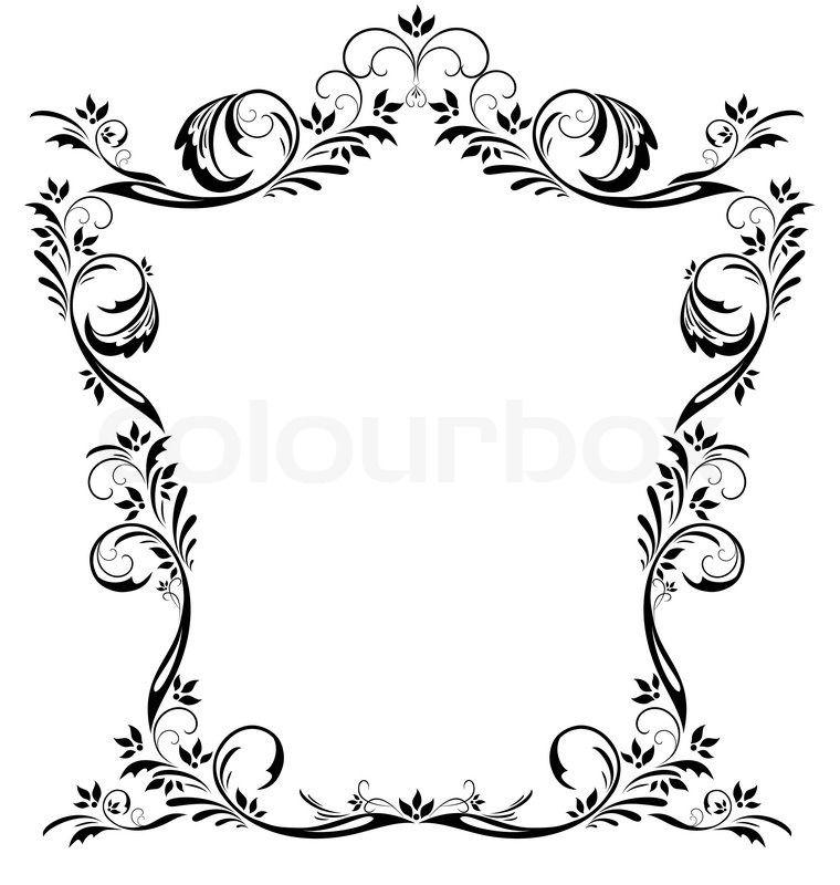 vintage french filigree border google search scrolls frames rh pinterest com vintage vector frames free vintage vector frames and borders free