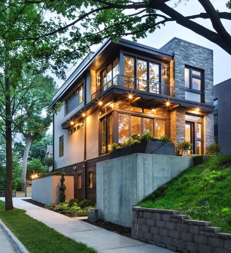 Minimalist Exterior Home Design Ideas: 47 Popular Contemporary Exterior House Design Ideas 5 In