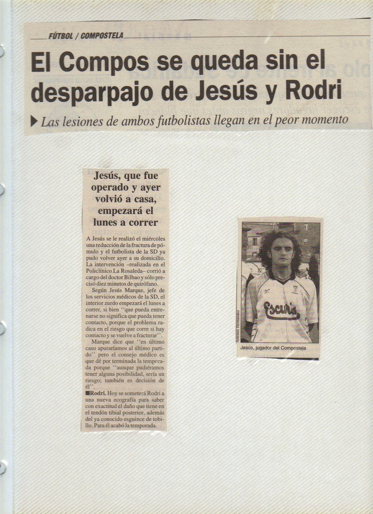 Lesión de Rodri y mía en Mestalla