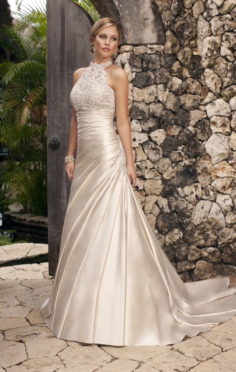 Lace halter wedding dress  Fairytales Bridal Boutique  really like the halter neck itus a