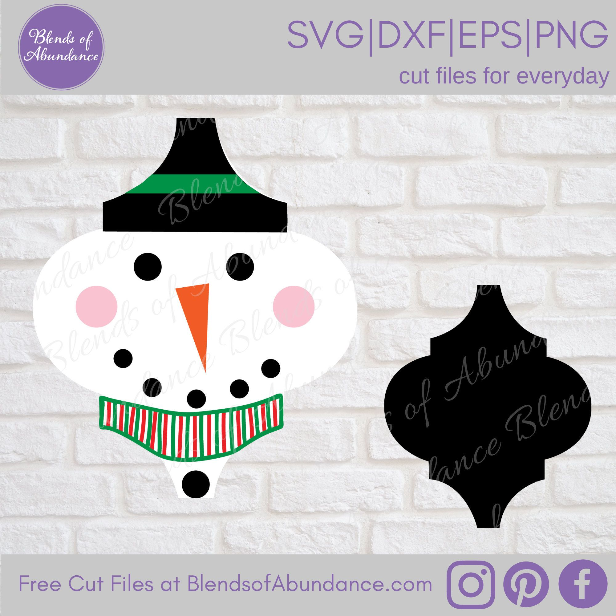 Snowman Ornament Svg Tile Ornament Svg Tile Ornament Etsy In 2021 Ornament Template Arabesque Tile Christmas Ornaments