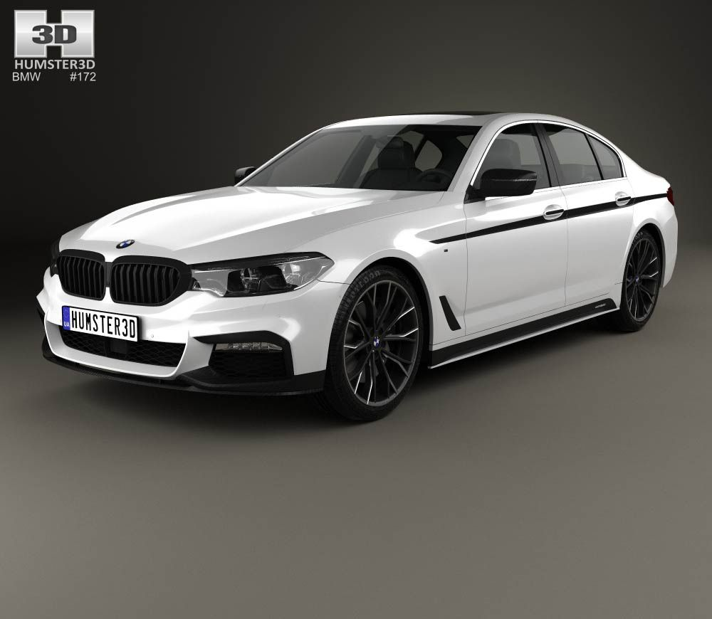 BMW 5 Series (G30) M Performance Parts 2017 3d Model From