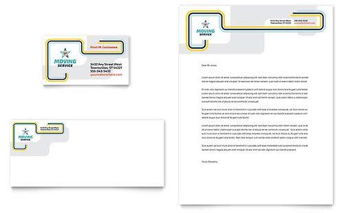 Moving Service Business Card \ Letterhead Template kcc - construction company letterhead template