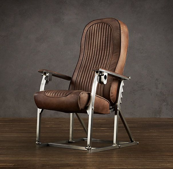 1970s French Airplane Chair Neat Retro Look Light Airliner Seat At Restoration Hardware Not From An Aircraft