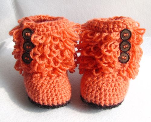 UGG inspired baby boots    These adorable crochet boots are inspired by UGG boots. They are sure to get attention whether it's at baby shower or on yo