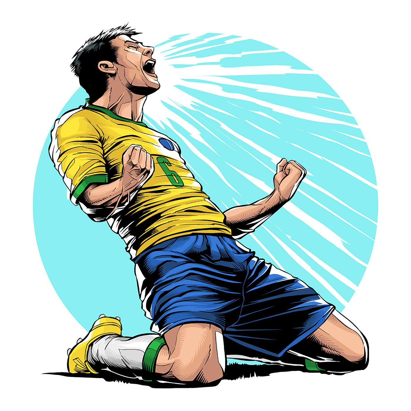 Soccer Illustrations By Cristiano Siqueira Daily Design Inspiration For Creatives Inspiration Gri In 2020 Football Illustration Football Logo Design Soccer Artwork