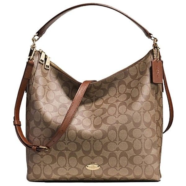 ccd41303d9e7 Pre-owned Coach Signature Celeste Convertible Hobo Bag ( 190) ❤ liked on  Polyvore