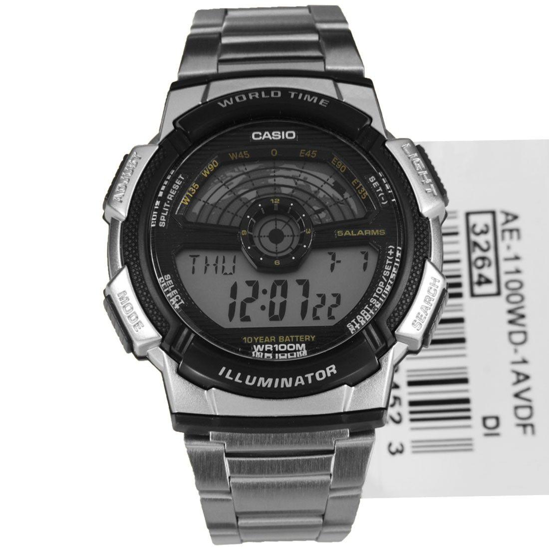Casio World Time Alarm Digital Sports Watch AE1100WD1A