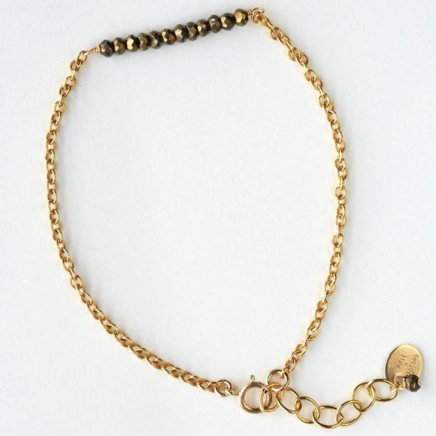 RIFLE + RADFORD Barr Bracelet blue, gold, jewelry
