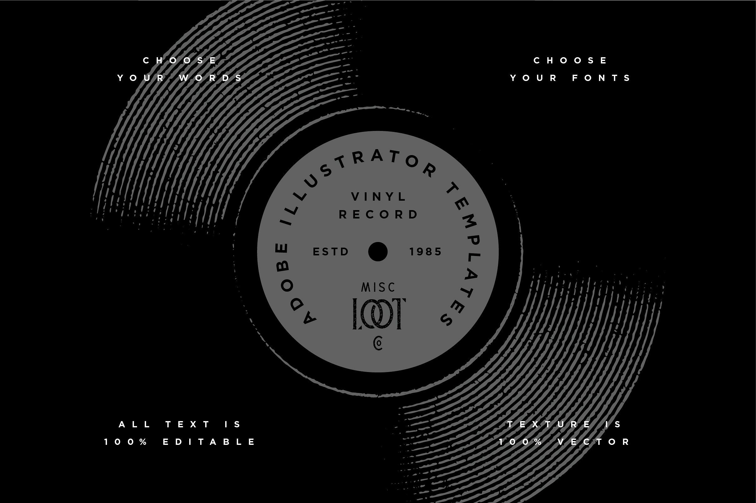 Vinyl Record Template Vinyl Records Vinyl Templates