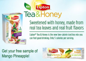 WooHoo! Check out this new link here to score yet another Lipton Tea & Honey Mango Pineapple sample! Don't forget that you can also still head on over here to score another FREE sample from their Facebook page. (Thanks, Free Stuff Times!)