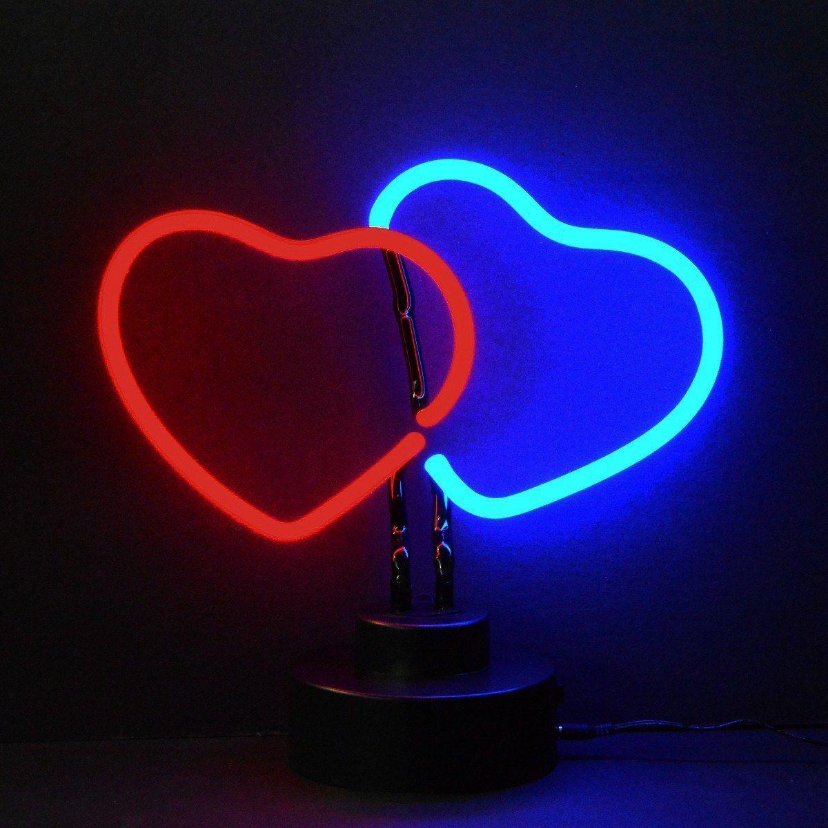 Double Hearts Neon Sculpture Neon Neon Lighting Neon Signs