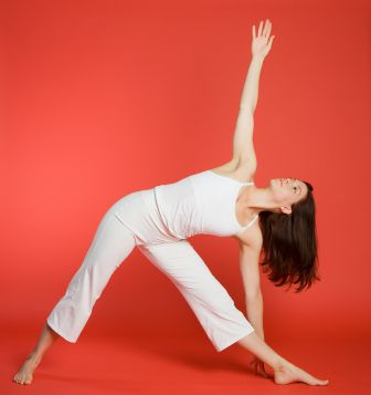 yoga pose triangle pose  physical fitness exercise