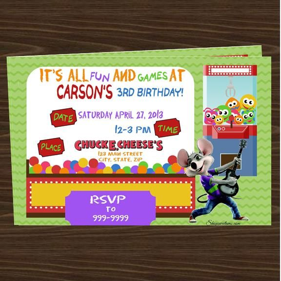 Chuck E Cheese Party Invitations Top Party Themes Pinterest - invitation to a party