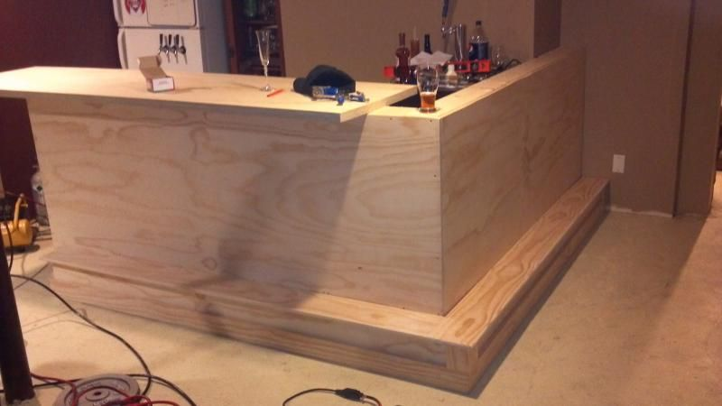 Basement bar build page 2 home brew forums dry bar pinterest basements bar and men cave - How to design a bar ...