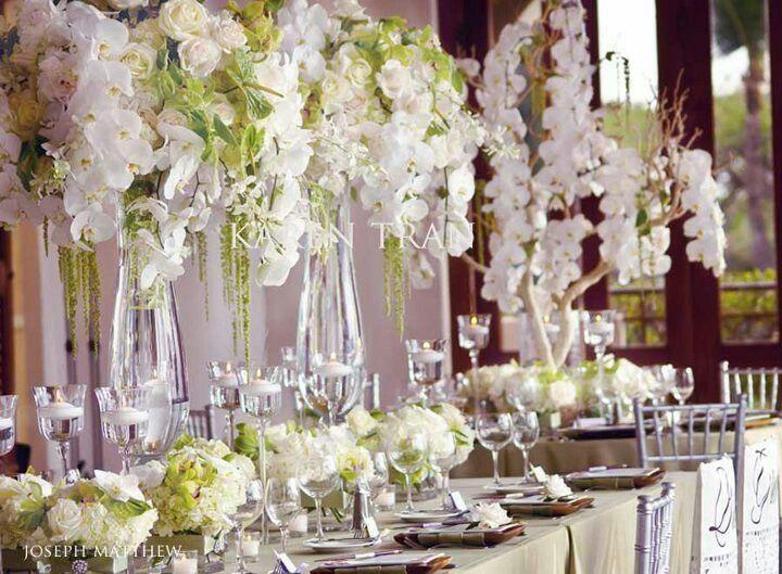 Karen Tran Weddings Green And White Themed Wedding Reception