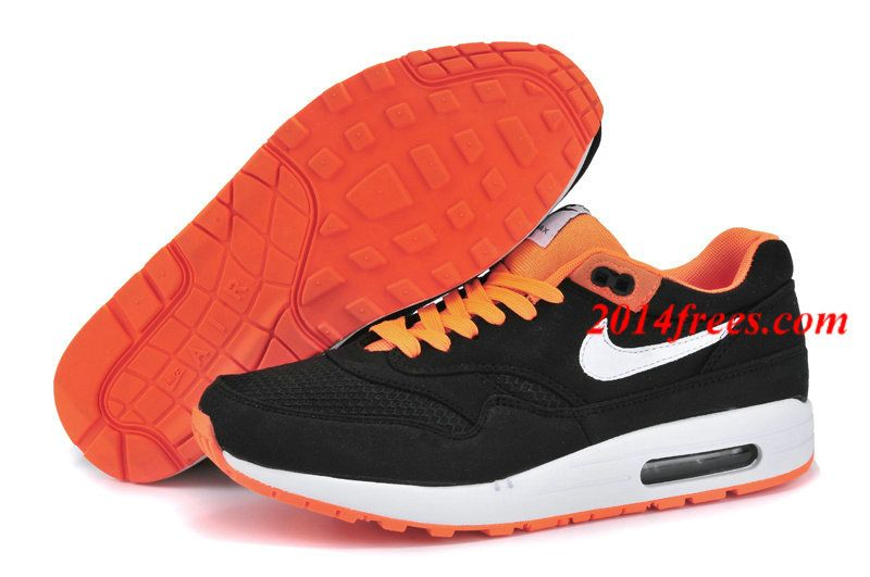 best service 9517b 4e513 Mens  Nike  Air  Max 1 Premium Venom Black White Bright Citrus Men s Shoes