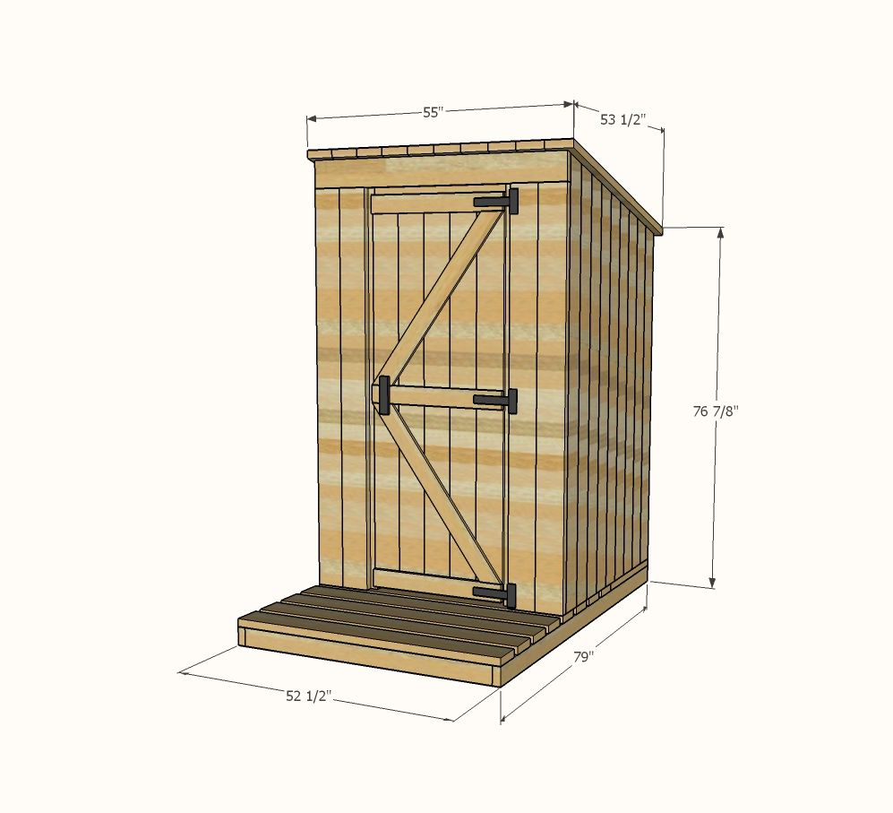 Ana white build a outhouse plan for cabin free and for Simple to build house plans