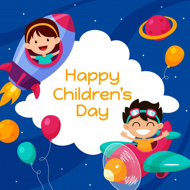 Happy Childrens Day Poster Background