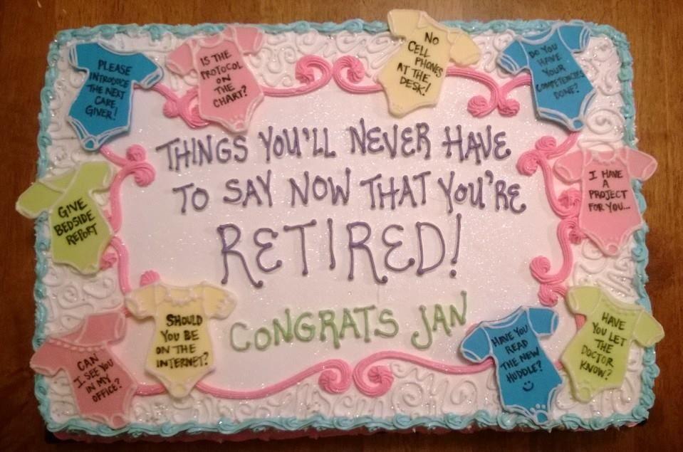 Labor delivery charge nurse retirement retirement