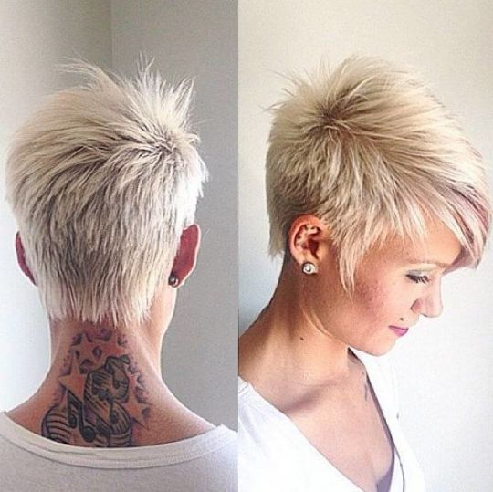 Short Funky Hairstyles Simple Funkyshorthairstylesforgreyhair 540×539 …  Hairstyl…