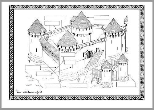 Ch teau fort histoire pinterest ch teau fort ch teau et histoire - Coloriage moyen age maternelle ...
