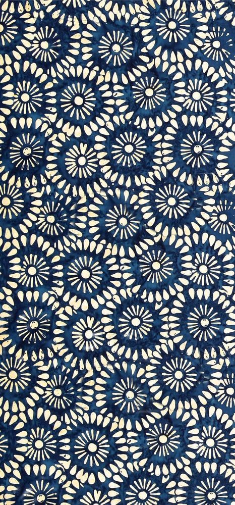 Blue and White Flower Pattern Art Print