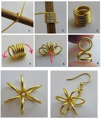 1 Diy Wire Earrings Craft Ideas Diy Tutorials Pinterest By Jersica Diy Wire Earrings Diy Wire Jewelry Earring Crafts