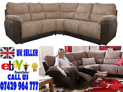Sienna Fabric Leather Recliner Corner Sofa Chocolate Brown Littlewoods Cord Recliner Corner Sofa Chocolate Sofa Corner Sofa