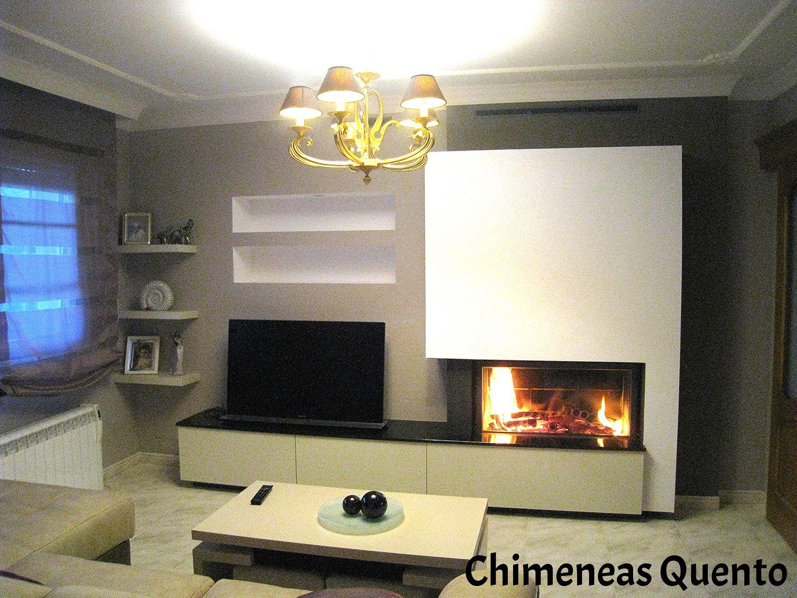Chimenea quento modelo frions con stuv 21 105 modelo for Chimeneas tradicionales