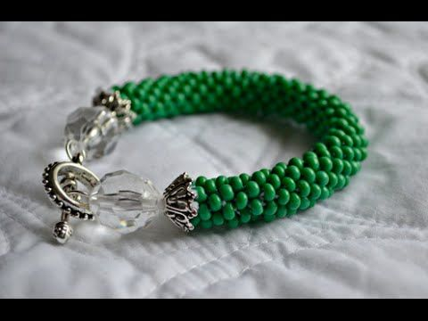 Glass Beaded Bracelet : Crocheted Rope Tutorial from Cozy Crafting - YouTube #craft